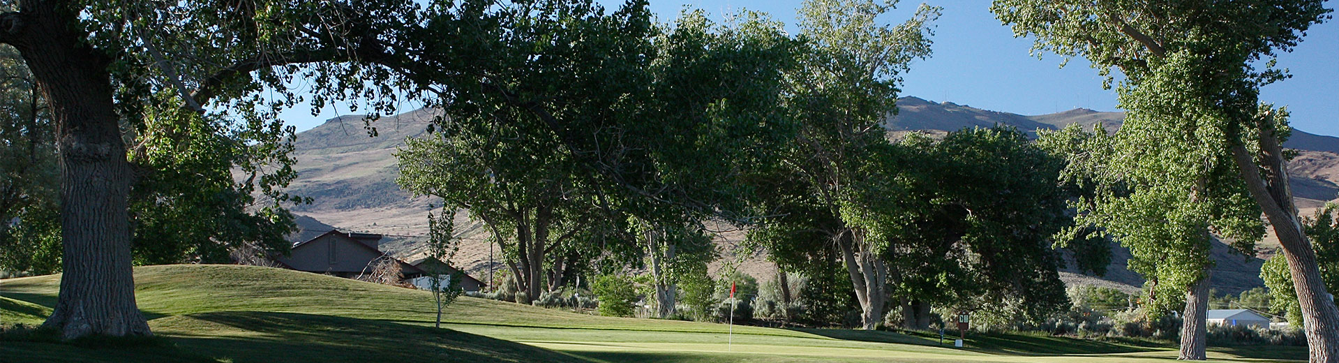 One of the holes at Empire Ranch Golf Course in Carson City, Nevada